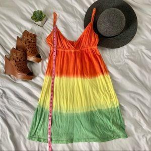 Dresses & Skirts - Orange, yellow, green adjustable straps sundress